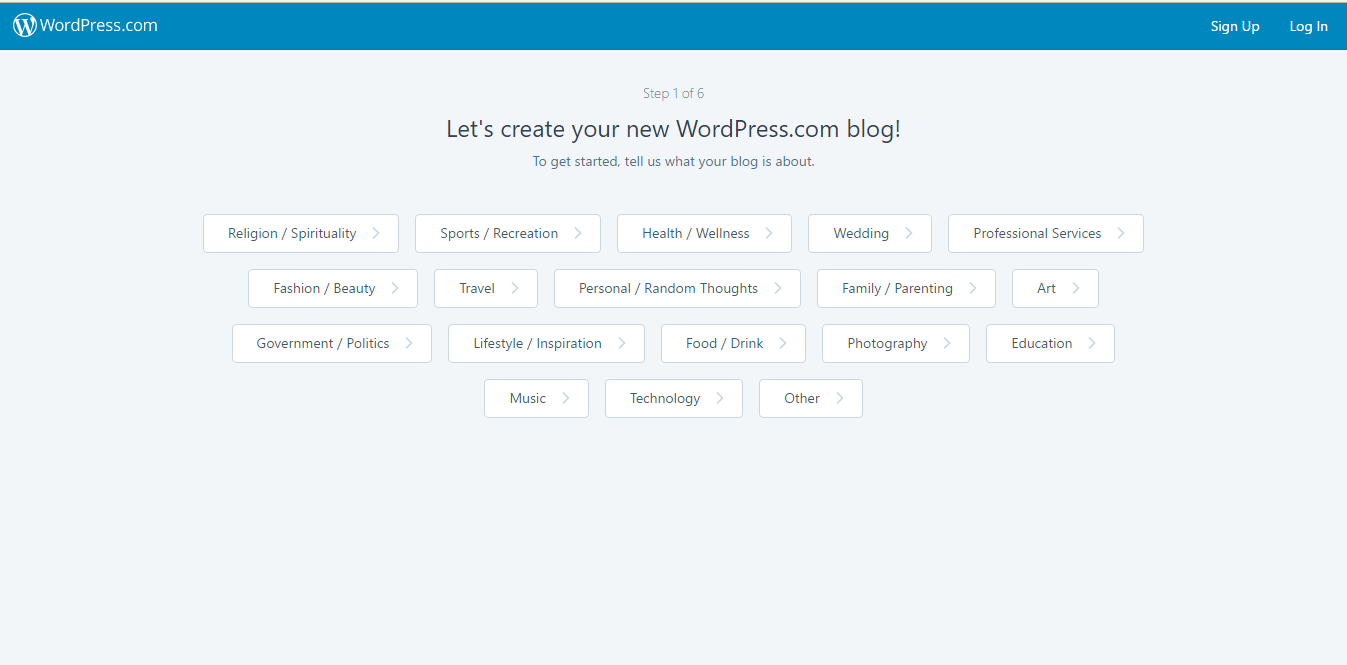 set up a blog with wordpress
